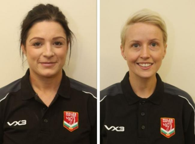 SELECTION: Becky Llewellyn-Ennis, left, and Rhian Stephens