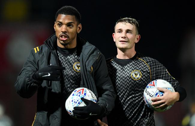 HAT-TRICKS: Tristan Abrahams, left, and Taylor Maloney, right, both claimed a match ball at Cheltenham