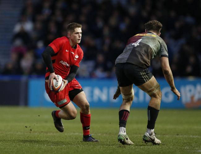 DEBUT: Dragons centre Tom Griffiths in action for Saracens