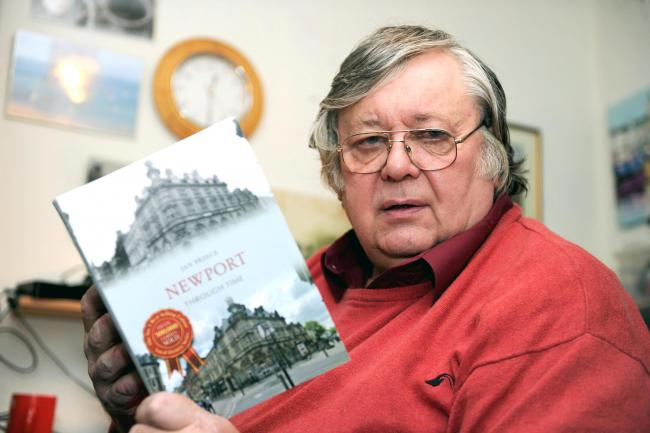 Newport photographer and author Jan Preece with his new book 'Newport through time'..