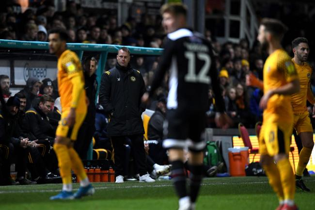 READY: Newport County boss Michael Flynn watched his side beat Grimsby Town at Rodney Parade
