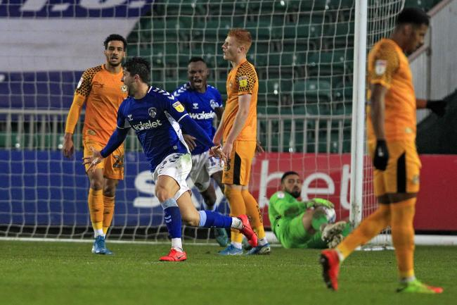 GOAL: Zak Mills' strike earned Oldham Athetic all three points against Newport County