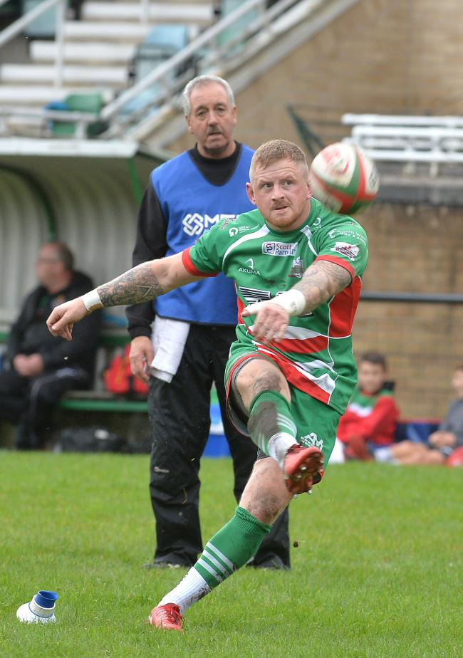 DEADLY: Dan Haymond kicked 16 points for Ebbw Vale at RGC. Picture from files: christinsleyphotography.co.uk