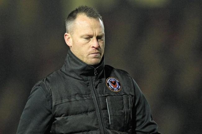 DISAPPOINTED: Newport County manager Michael Flynn after Saturday's defeat to Oldham Athletic