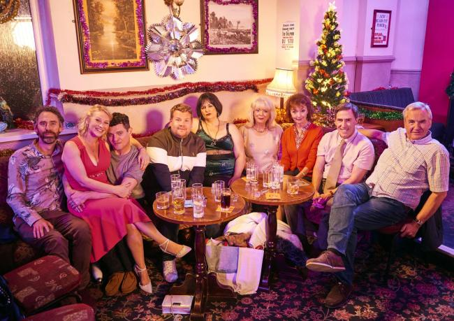 For use in UK, Ireland or Benelux countries only ..Undated BBC handout photo of the cast of Gavin and Stacey, (left to right) Rob Wilfort as Jason, Joanna Page as Stacey, Matthew Horne as Gavin, James Corden as Smithy, Ruth Jones as Nessa, Alison