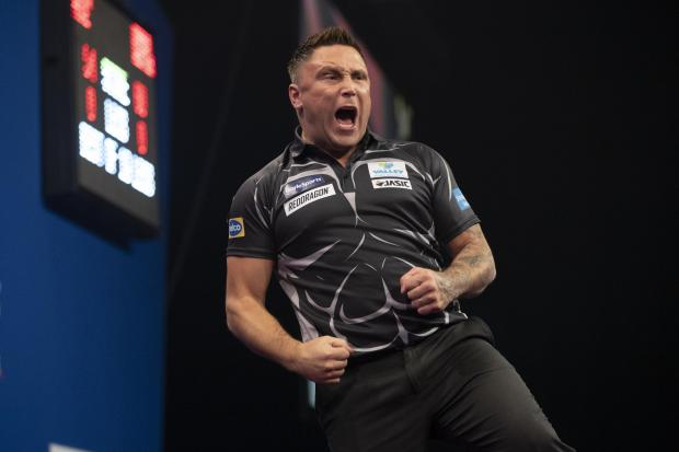 UP FOR IT: Gerwyn Price has had a superb year on the oche. Picture: Lawrence Lustig