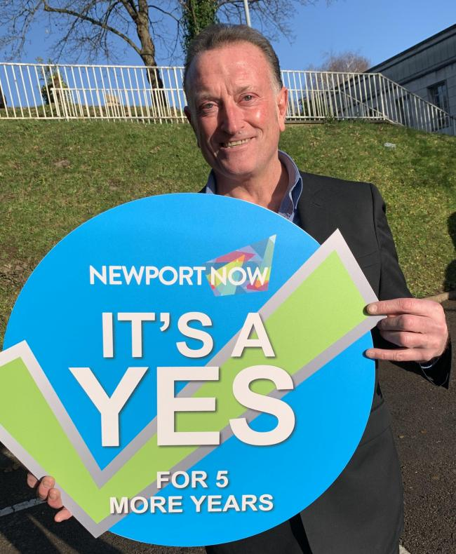 Newport Now BID chair Zep Bellavia after today's successful ballot result
