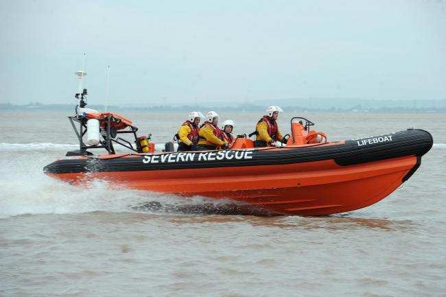 SARA (Severn Area Rescue Association) launch their new lifeboat at Beachley thanks to govenment funding..