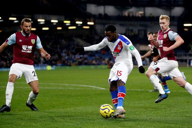 Crystal Palace's Jeffrey Schlupp made a big impact off the bench in the 2-0 win at Burnley