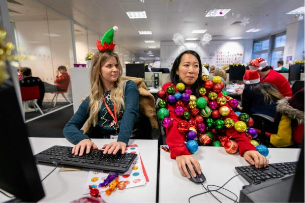 South Wales Argus: You could create your own seasonal sweater for Christmas Jumper Day. Pic credit: Save the Children