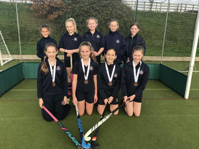 SUCCESS: The Monmouth School Girls' Prep's Under-11 hockey team. Back row, from left, Issy Taylor, Ellie Walsh, Sophie Williams, Annabelle James and Romy Farquhar. Front, from left, Verity Ainsworth, Jess Stentiford, Jess Law and Alice Meredit