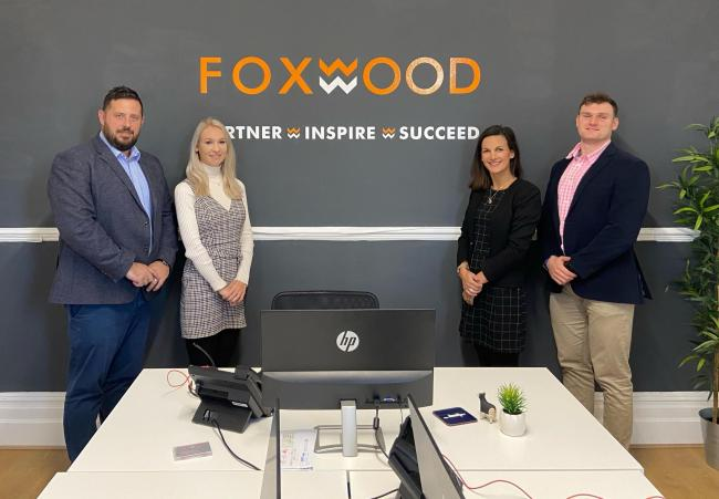 The Foxwood Recruitment team has moved into new city centre offices in Newport