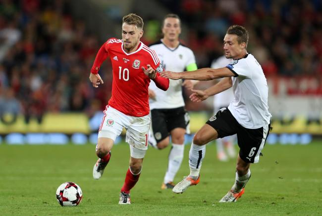 FLASHBACK: Aaron Ramsey in action for Wales against Austria in September 2017