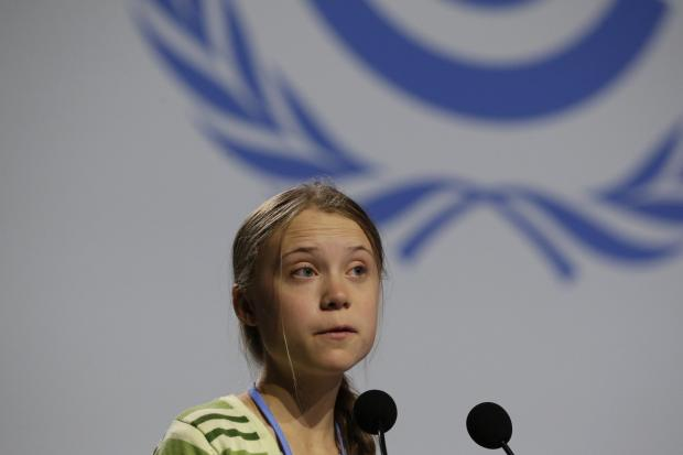 South Wales Argus: Greta Thunberg speaking at the United Nations Climate Change Conference (COP25) in Madrid, December 2019. Picture: PA