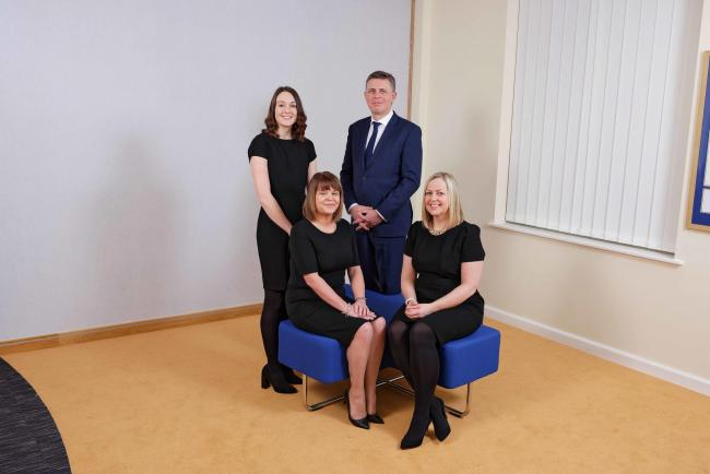 Photo caption: From left, Claire Thompson, Joanne Taylor, Ian Thomas and Sarah Case