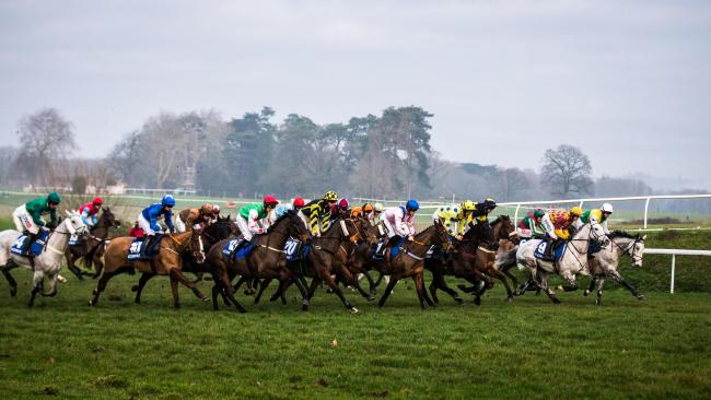 THEY'RE OFF: Last year's Coral Welsh Grand National gets under way
