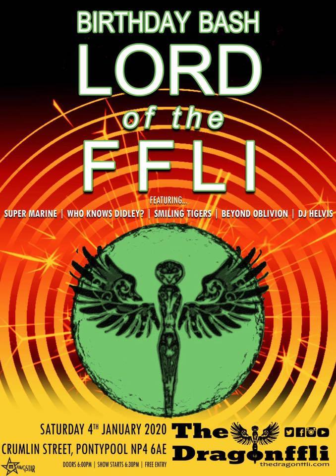 Pontypool's The Dragonffli to host Lord of the Ffli birthday bash on Saturday