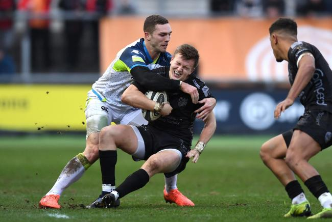 INJURY BLOW: Dragons full-back Will Talbot-Davies dislocated his right wrist against the Ospreys