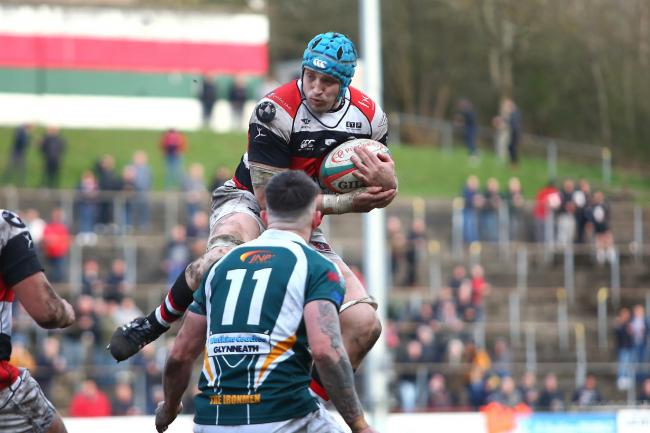 SPARKS FLYING: Pontypool number eight Ben Sparks impressed against Beddau last weekend