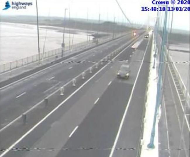 Traffic camera showing the M48 Severn Bridge. Picture: Highways England