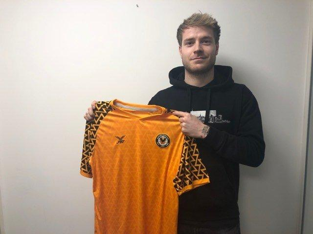 SIGNED UP: New County defender Ashley Baker. Picture courtesy of Newport County AFC