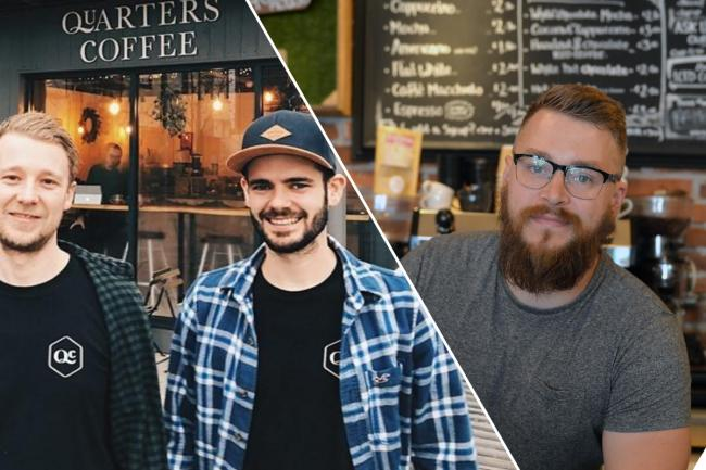INDEPENDENT: Quarters Coffee (L) and Rogue Fox (R) are helping make Newport an attractive place to visit.