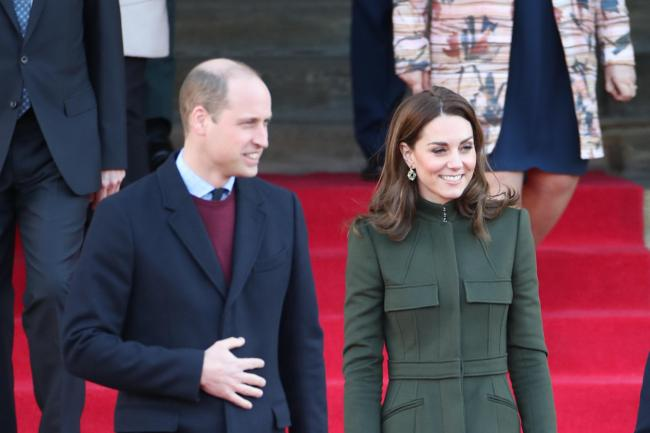 The Duke and Duchess of Cambridge leave after a visit to City Hall (Danny Lawson/PA)