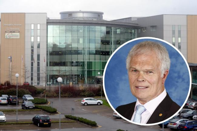 Plaid Cymru's Colin Mann has bemoaned the council's lack of spending.