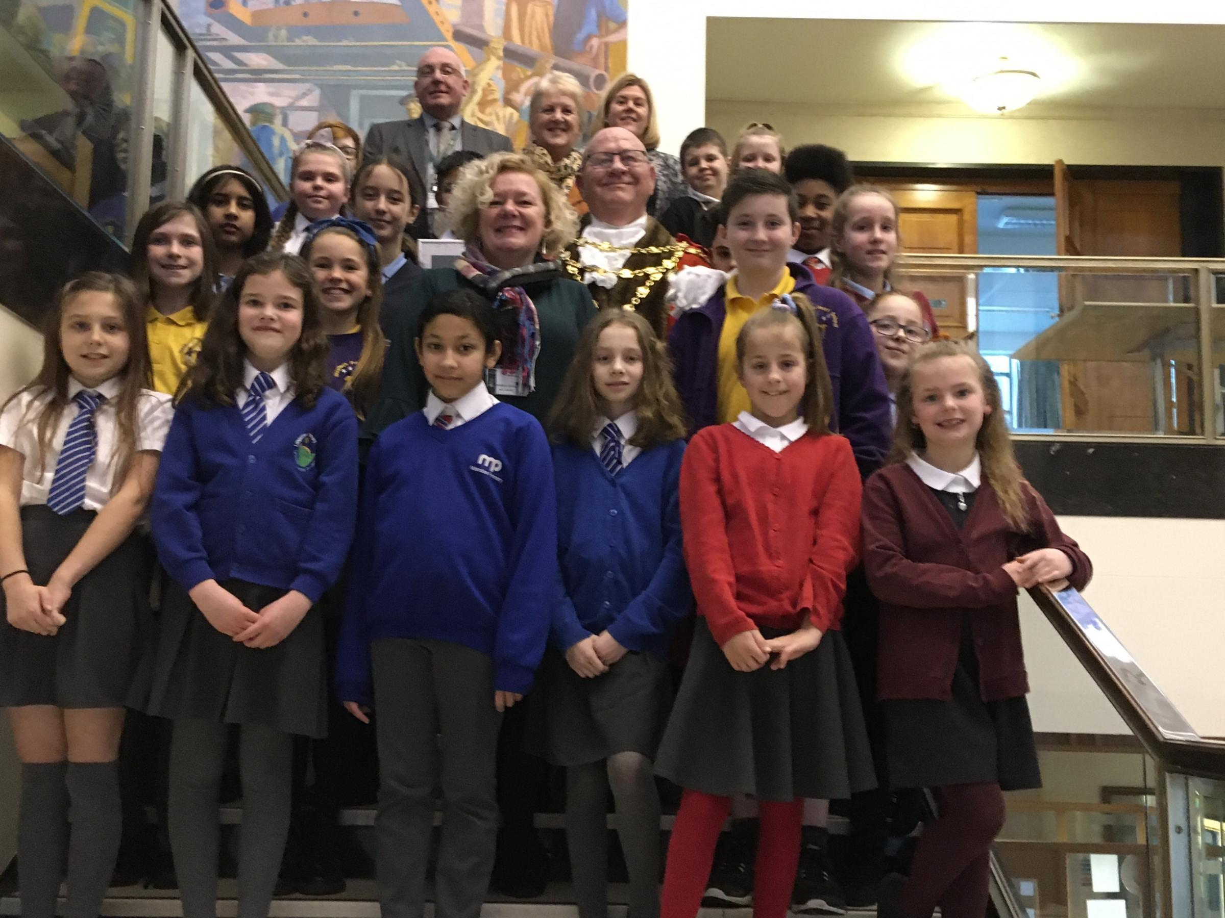 Newport pupils and schools rewarded in healthy living initiative