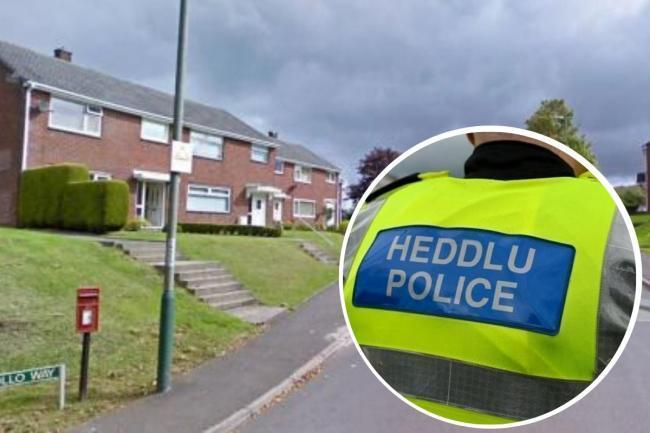 The incident happened at a property in Apollo Way, Blackwood.
