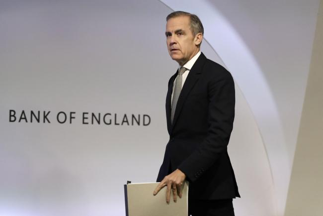 "File photo dated 16/12/19 of Mark Carney, Governor of the Bank of England amid reports today that the Bank of England policymakers will gather for a ""knife-edge"" decision on interest rates this Thursday. PA Photo. Issue date: Monday December 16,"