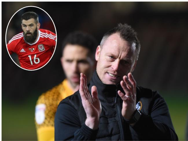 TARGET: Manager Michael Flynn has missed out on signing Wales international Joe Ledley, inset
