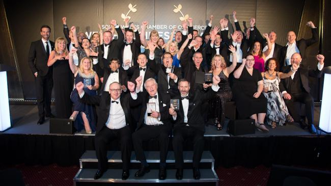 Winners celebrating at Welsh Business Awards 2018