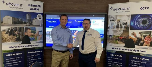 John Reid and Philip Popham in the CCTV monitoring centre at SecureIT