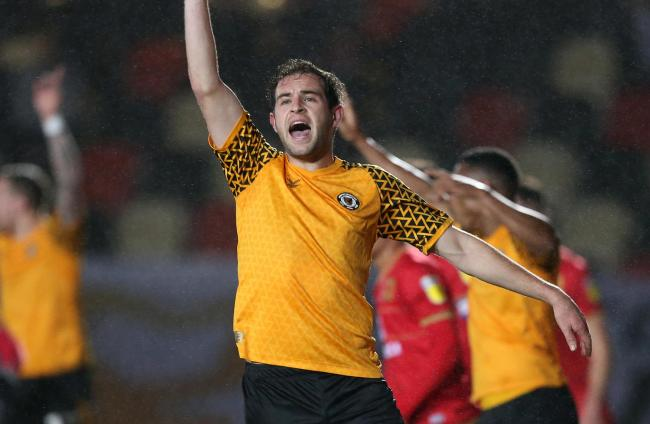 POSITIVE: Matty Dolan believes progress in the Leasing.com Trophy can help Newport County build momentum