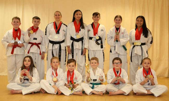 TALENTED: Torfaen Taekwondo Club with their latest haul of medals