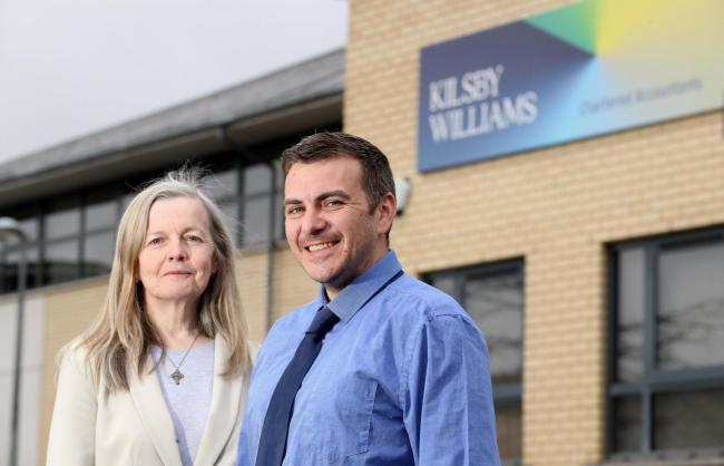 L-R Mary McDonagh, Partner and Daniel Burton, Tax Manager, both Kilsby Williams