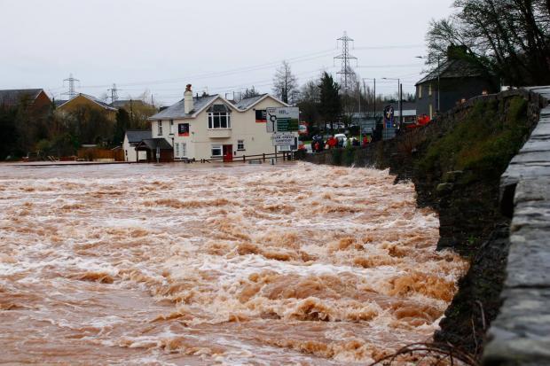 Llanfoist Bridge closed over safety concerns following Storm Dennis floods