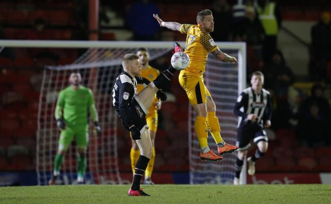 DEFEAT: Scot Bennett in action for Newport County at Grimsby Town. Pictures: Huw Evans Agency