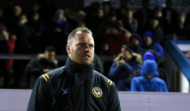 FRUSTRATED: Newport County manager Michael Flynn watches the action at Carlisle United. Pictures: Huw Evans Agency
