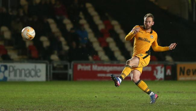 GOAL: Sean Rigg earned Newport County a point against Luton Town with this free-kick in March 2017
