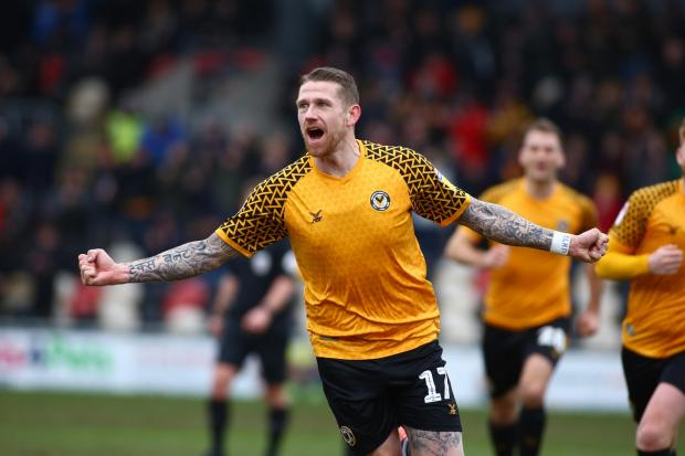 HEADACHE: Scot Bennett, one of Newport County's top performers so far this season, is one of five Exiles players out of contract on June 30