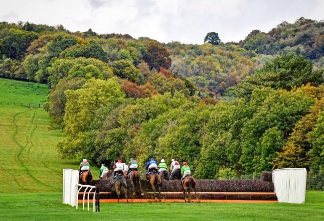 SCENIC: Racing at Chepstow Racecourse, but no one knows when we will be able to race again