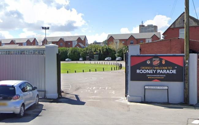 The entrance to Rodney Parade in Newport. Picture: Google