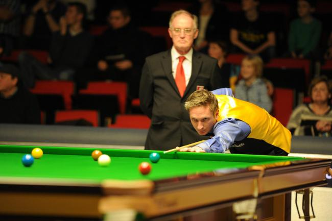 RETURN: Andrew Pagett, pictured at the Welsh Open in 2014, is back on the pro tour