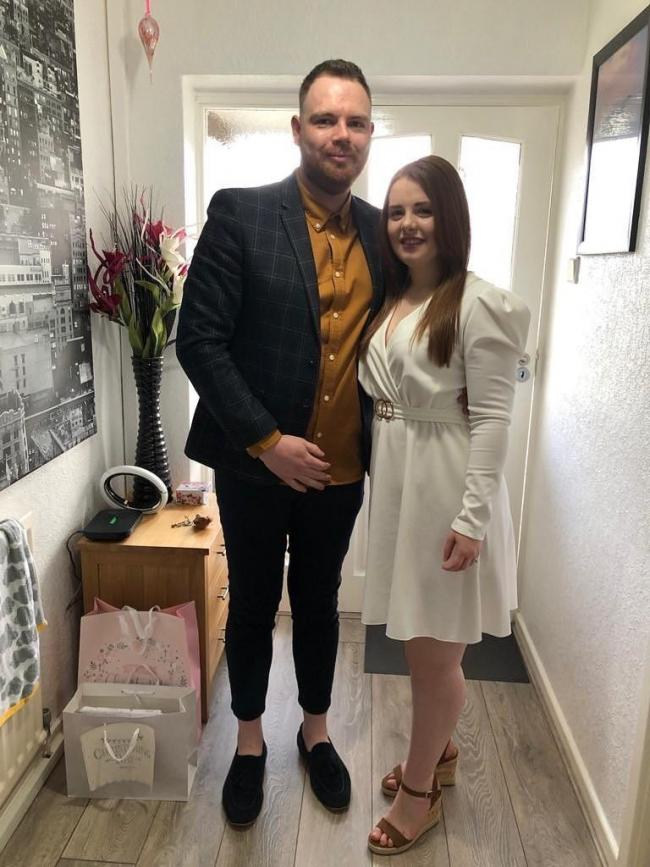 Craig Chilton, who is ineligible for the government's Coronavirus Job Retention Scheme after starting his new job after February 28, with his fiancee Farrah. Picture: Craig Chilton