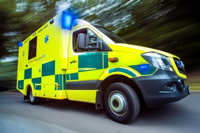 Two men in hospital after being cut from vehicles following crash in Caerphilly