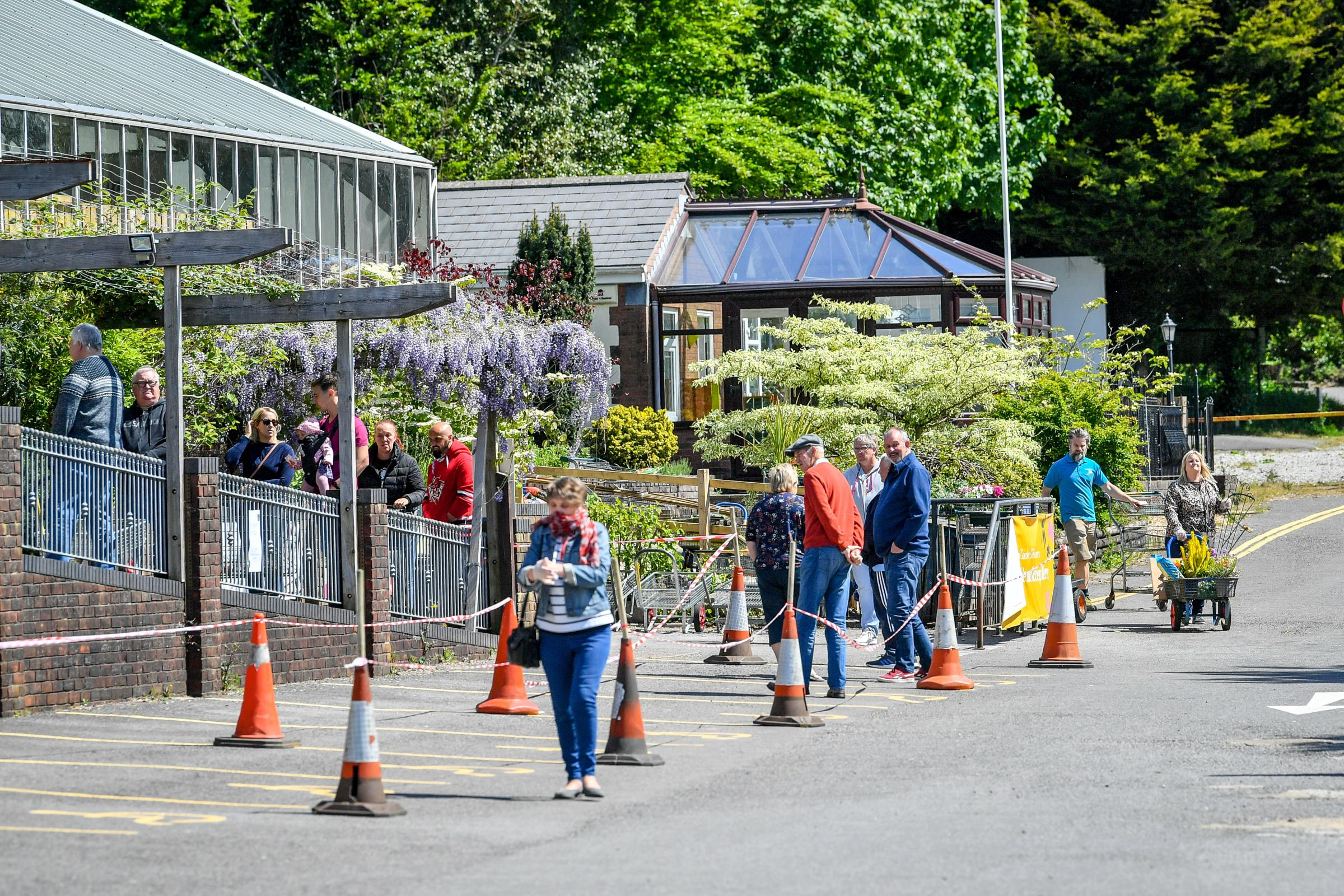 Caerphilly Garden Centre Reopens In Pictures South Wales Argus