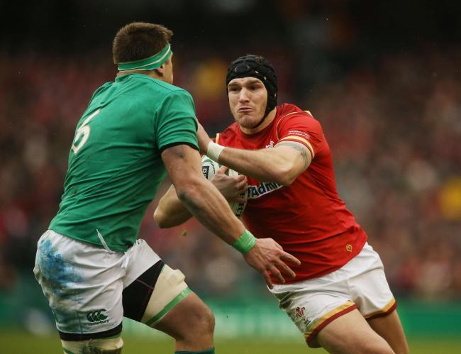 RETIRED: Wing Tom James, pictured on the run for Wales against Ireland in the 2016 Six Nations, has hung up his boots