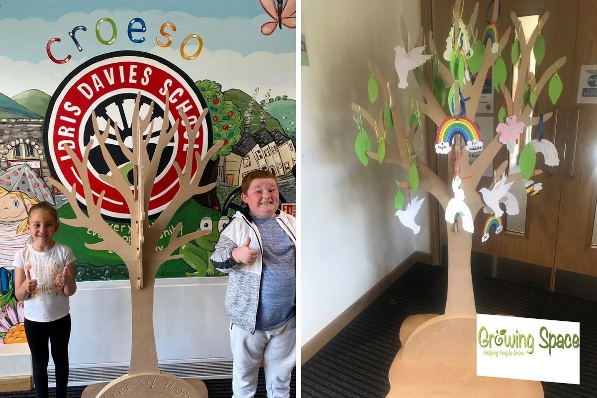 Idris Davies School in Tredegar spreading hope with Growing Space tree
